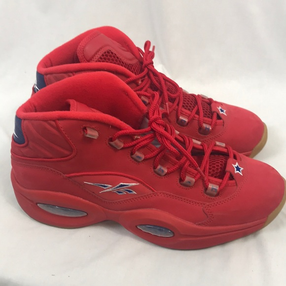 b0704d302f37 Reebok Question Mid Packer Shoes Red Mens 10.5. M 5cb90c129ed36d5e362d7fd8